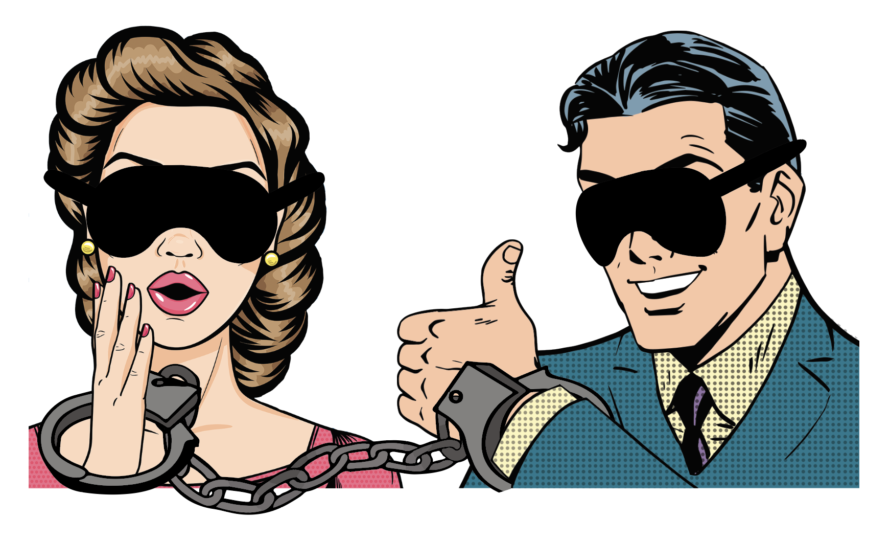Dick and Jane blindfolded